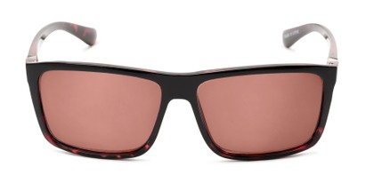 Front of The Clifton Reading Sunglasses in Black/Red Tortoise with Amber