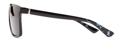 Side of The Clifton Reading Sunglasses in Black/Blue Tortoise with Smoke