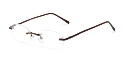 Angle of The Clinton Hill in Bronze, Women's and Men's Oval Reading Glasses