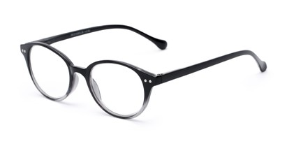 Angle of The Cocoa in Black Fade, Women's and Men's Round Reading Glasses