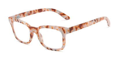 Angle of The Collegiate in Grey/Orange Multi Tortoise, Women's and Men's Retro Square Reading Glasses