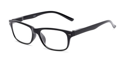 Angle of The Colonial in Black, Women's and Men's Retro Square Reading Glasses