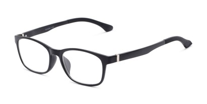 Angle of The Colt in Black, Women's and Men's Retro Square Reading Glasses