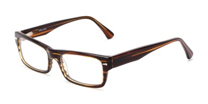 Angle of Columbia by felix + iris in Brown Stripe, Women's and Men's Rectangle Reading Glasses