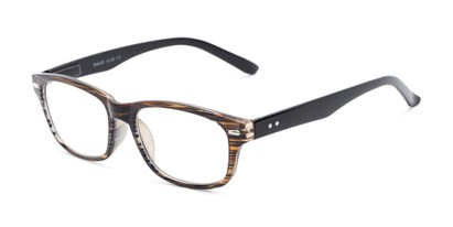 Angle of The Comet in Brown Stripe, Women's and Men's Rectangle Reading Glasses