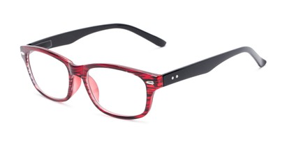 Angle of The Comet in Red Stripe, Women's and Men's Rectangle Reading Glasses