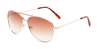 Angle of The Conrad Reading Sunglasses in Gold with Amber, Women's and Men's Aviator Reading Sunglasses