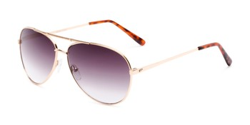 9a2ca93afa Angle of The Conrad Reading Sunglasses in Gold with Smoke