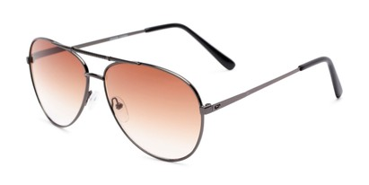 Angle of The Conrad Reading Sunglasses in Grey with Amber, Women's and Men's Aviator Reading Sunglasses