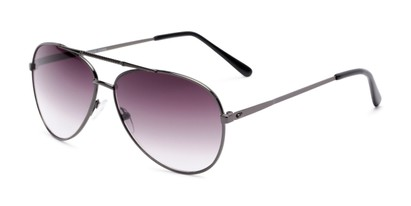Angle of The Conrad Reading Sunglasses in Grey with Smoke, Women's and Men's Aviator Reading Sunglasses