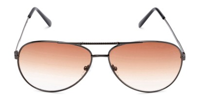 Front of The Conrad Reading Sunglasses in Grey with Amber