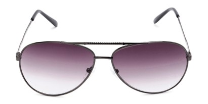 Front of The Conrad Reading Sunglasses in Grey with Smoke