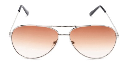 Front of The Conrad Reading Sunglasses in Silver with Amber