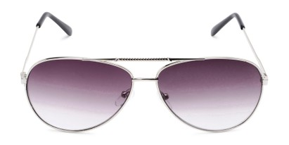Front of The Conrad Reading Sunglasses in Silver with Smoke