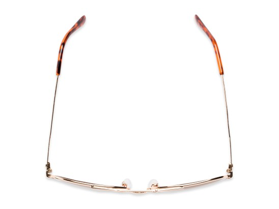 Overhead of The Conrad Reading Sunglasses in Gold with Amber
