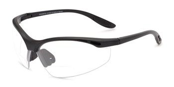 97fa3fd8e6 Angle of The Cooper Bifocal Safety Reader in Matte Black Frame with Clear  Lenses
