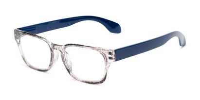 Angle of The Cornwall in Purple Multi/Blue, Women's and Men's Retro Square Reading Glasses