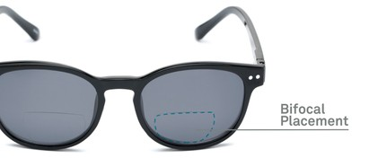 Detail of The Cosmo Polarized Magnetic Bifocal Reading Sunglasses in Black with Smoke