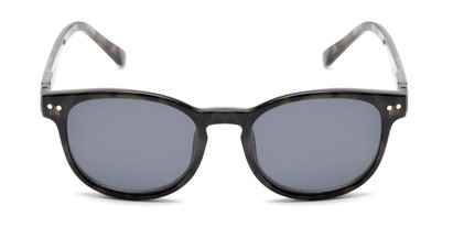 Front of The Cosmo Polarized Magnetic Bifocal Reading Sunglasses in Grey Tortoise with Smoke