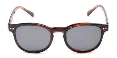 Front of The Cosmo Polarized Magnetic Bifocal Reading Sunglasses in Tortoise with Smoke