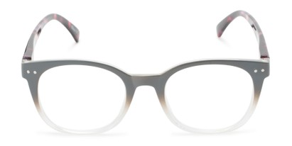 Front of The Cotton in Grey Fade/Red Tortoise