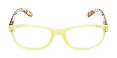 Front of The Cybil in Yellow/Tortoise