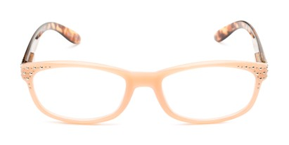 Front of The Cybil in Pink/Tortoise