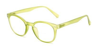 Angle of The Cyrus Bifocal in Matte Light Green, Women's and Men's Round Reading Glasses
