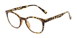 Angle of The Cyrus Bifocal in Matte Tortoise, Women's and Men's Round Reading Glasses