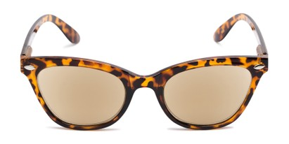 Front of The Daffodil Reading Sunglasses in Tortoise with Amber