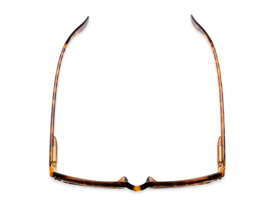 Overhead of The Daffodil Reading Sunglasses in Tortoise with Amber