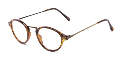 Angle of The Daffron in Tortoise with Gold, Women's and Men's Retro Square Reading Glasses