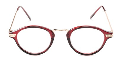 Front of The Daffron in Dark Red with Rose Gold