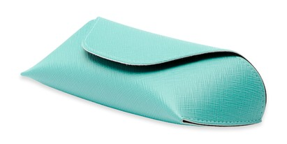 Angle of Pastel Reading Glasses Case in Green, Women's and Men's  Soft Cases / Pouches