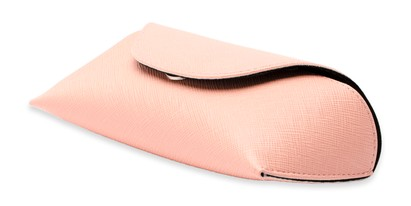 Angle of Pastel Reading Glasses Case in Light Pink, Women's and Men's  Soft Cases / Pouches
