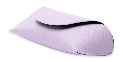 Angle of Pastel Reading Glasses Case in Purple, Women's and Men's  Soft Cases / Pouches