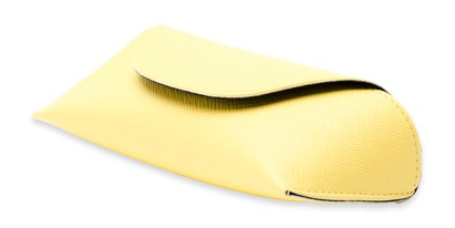 Angle of Pastel Reading Glasses Case in Yellow, Women's and Men's  Soft Cases / Pouches
