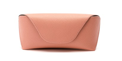 Front of Pastel Reading Glasses Case in Light Pink