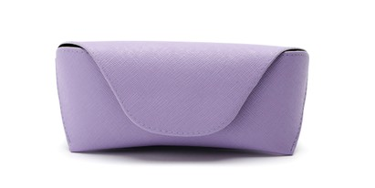 Front of Pastel Reading Glasses Case in Purple