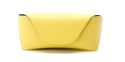 Front of Pastel Reading Glasses Case in Yellow