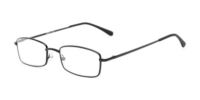Angle of The Dakota in Matte Black, Men's Rectangle Reading Glasses