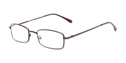 Angle of The Dakota in Matte Bronze, Men's Rectangle Reading Glasses