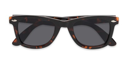 Folded of The Dallas Reading Sunglasses in Tortoise with Smoke