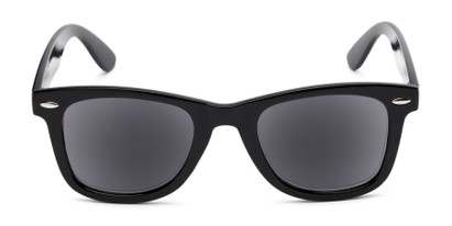 Front of The Dallas Reading Sunglasses in Black with Smoke