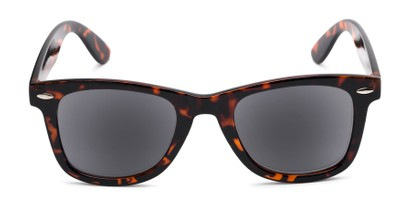 Front of The Dallas Reading Sunglasses in Tortoise with Smoke