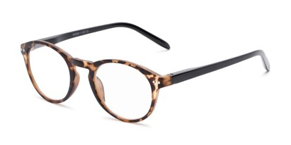 Angle of The Dandelion in Matte Tortoise/Black, Women's and Men's Round Reading Glasses