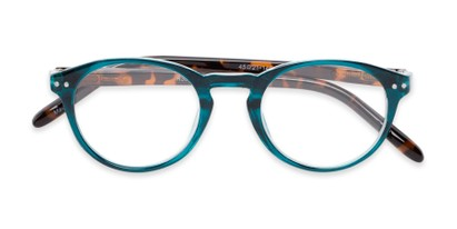 Folded of The Dandelion in Glossy Teal/Tortoise