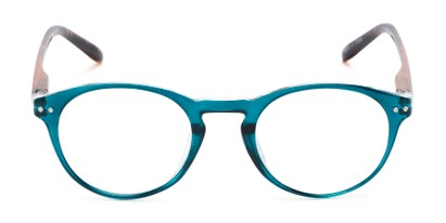 Front of The Dandelion in Glossy Teal/Tortoise