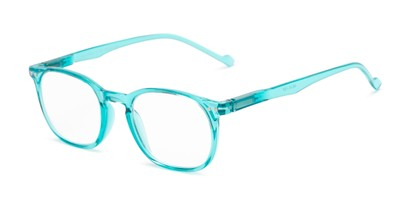 Angle of The Darling in Light Blue, Women's Retro Square Reading Glasses