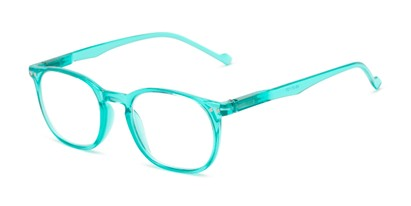 Angle of The Darling in Mint Green, Women's Retro Square Reading Glasses